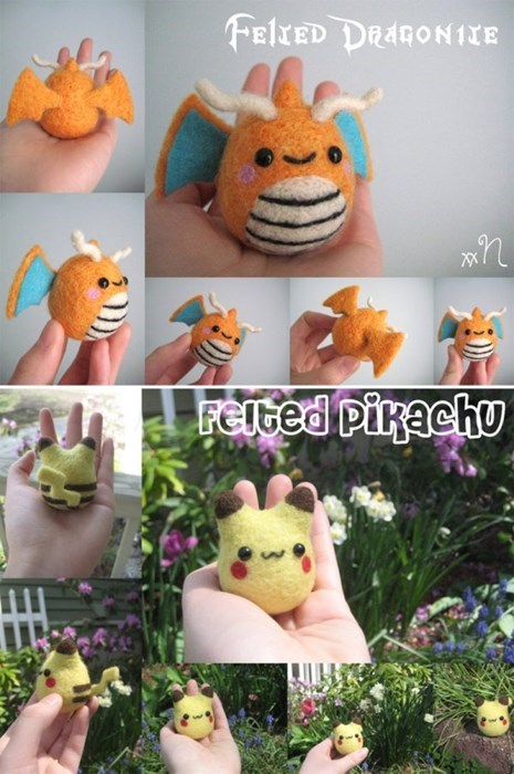 Pokémon felt dragonite pikachu - 8094898944