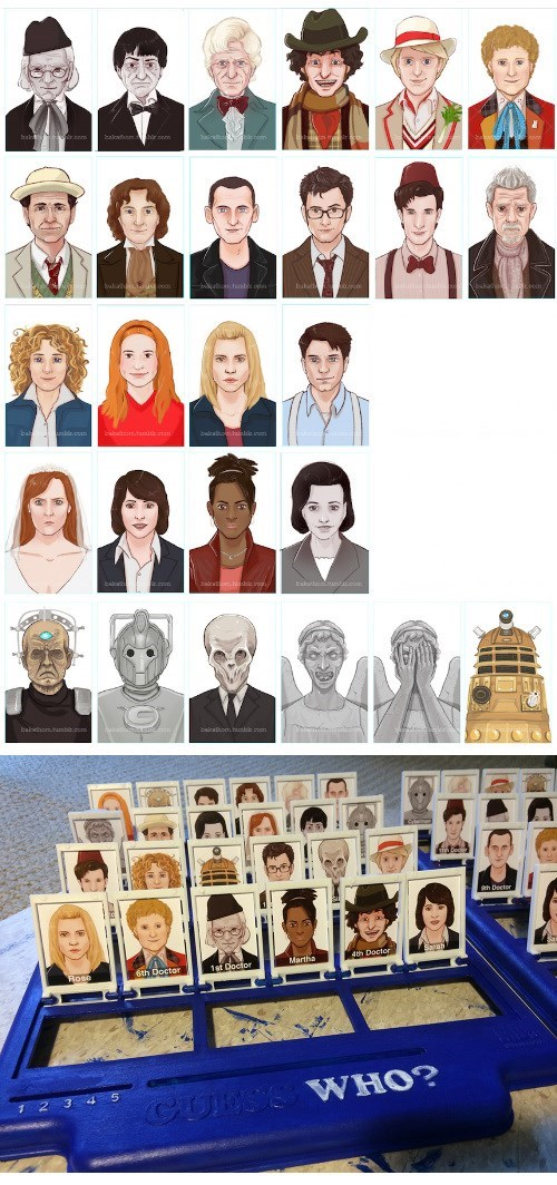 guess who board games doctor who - 8094921216