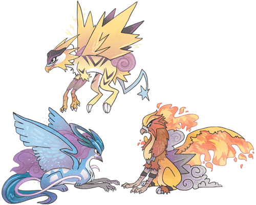Pokémon Fan Art gryphons - 8094979584