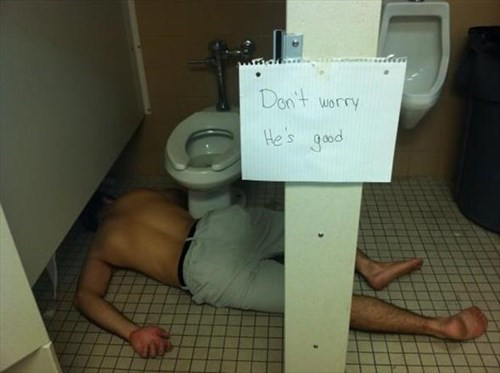 drunk passed out toilet funny - 8094988288