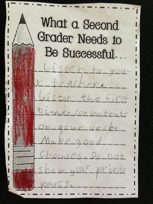 second grade advice funny successful g rated School of FAIL - 8094992128
