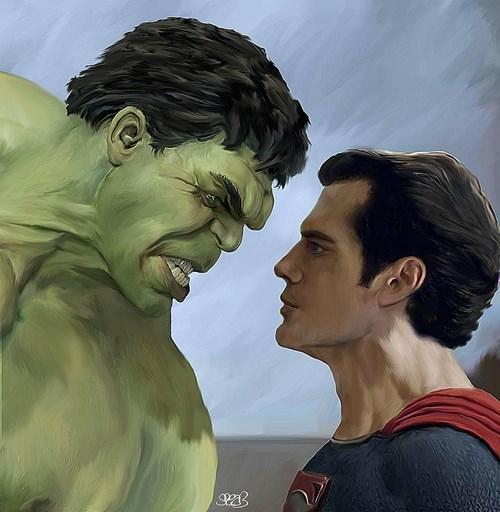 the hulk art superman - 8095023360