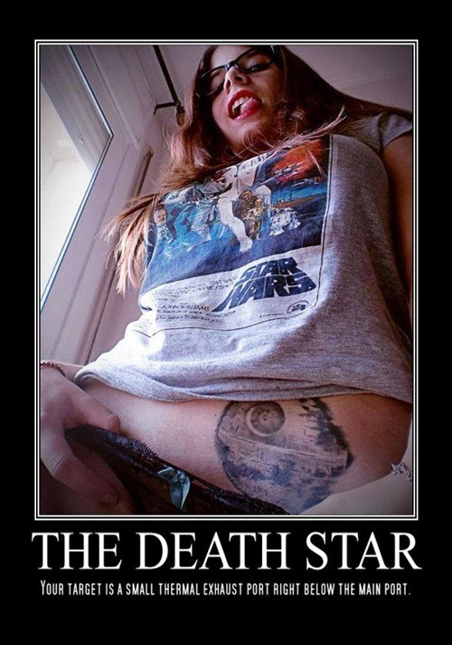 Death Star,funny,star wars,tattoos