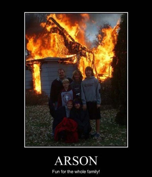 arson family fire funny