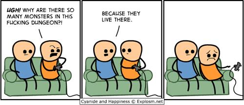 dungeon video games sad but true web comics - 8096281344