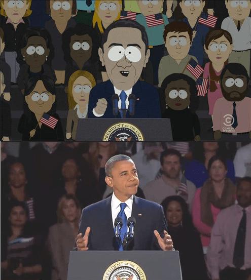 barack obama cartoons South Park - 8096311808