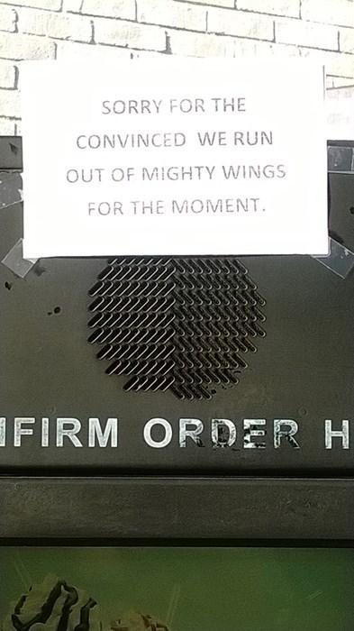 McDonald's spelling mighty wings - 8096354560