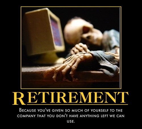 dead funny retirement old