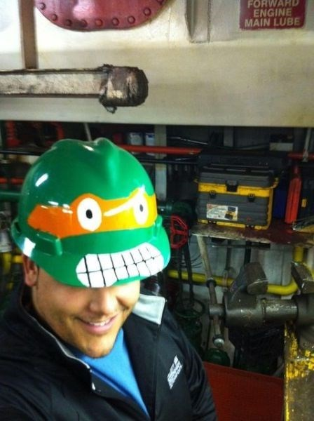 hard hat monday thru friday work teenage mutant ninja turtles TMNT - 8096382464