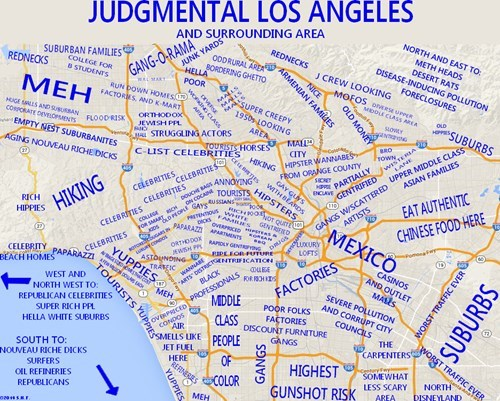 Maps,los angeles,judgmental maps
