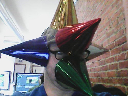 hat,poorly dressed,party hat