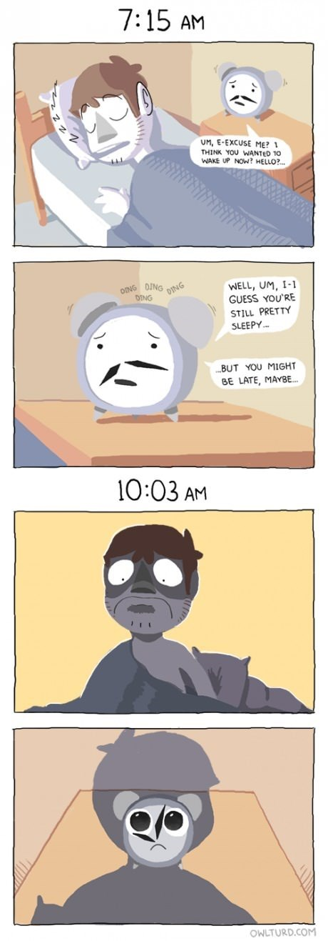alarm clock sad but true web comics - 8096469248