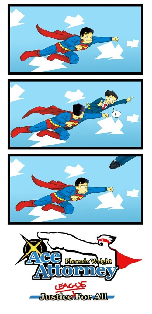 phoenix wright,superman,web comics