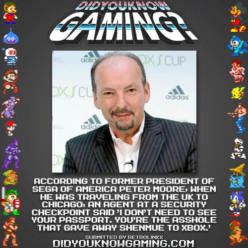 did you know gaming,peter moore,shenmue