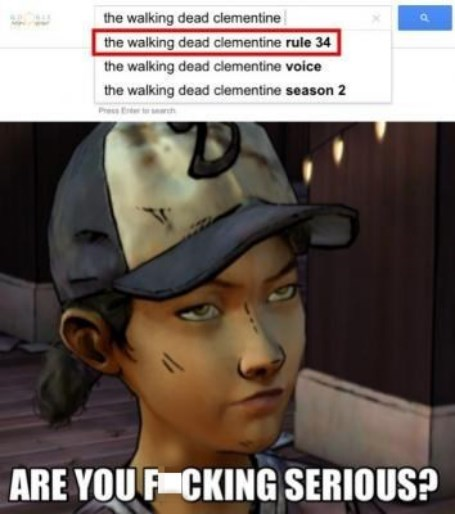 clementine,telltale games,Rule 34,The Walking Dead