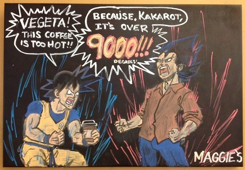 coffee cartoons Dragon Ball Z over 9000 - 8099529984