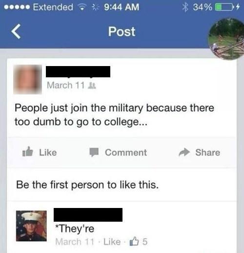 burn irony spelling military