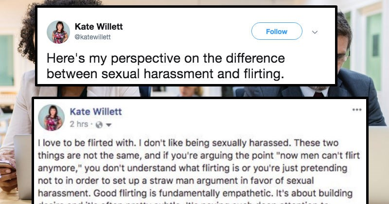 difference between flirting and sexual harassment