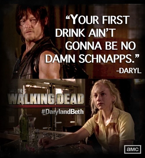 daryl dixon drinks The Walking Dead