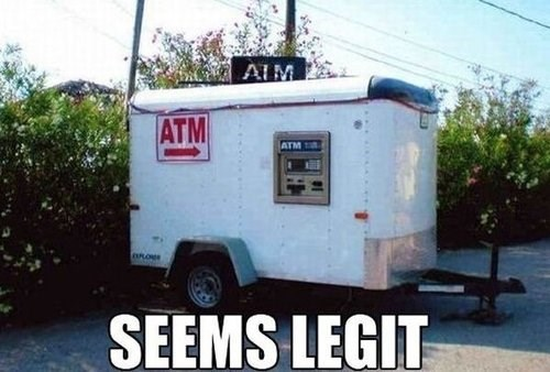 ATM money seems legit - 8100314368