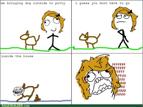 dogs trollface rage - 8100918528