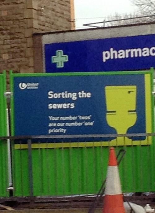 puns monday thru friday sewer sign work - 8100936192