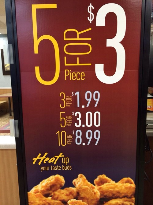FAIL fast food math monday thru friday work g rated - 8100984576