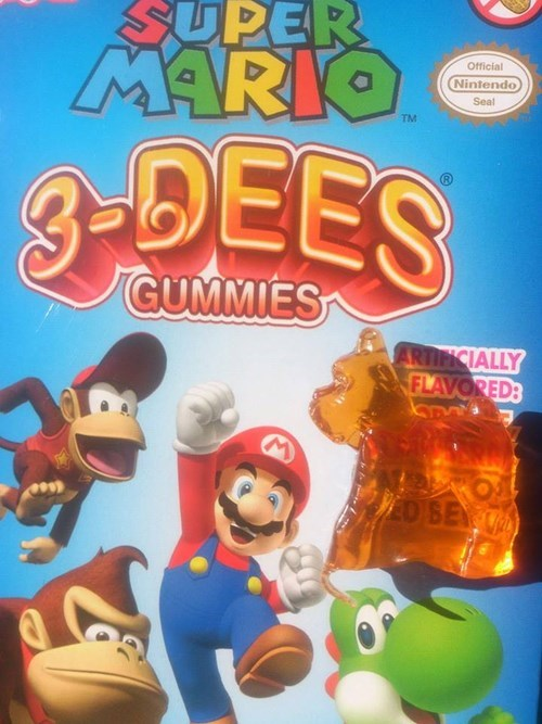 snacks gummies mario nintendo