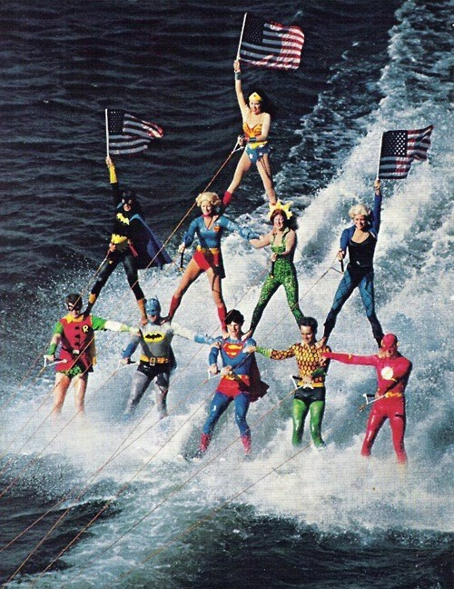 DC,justice league,water skiing,Batman v Superman