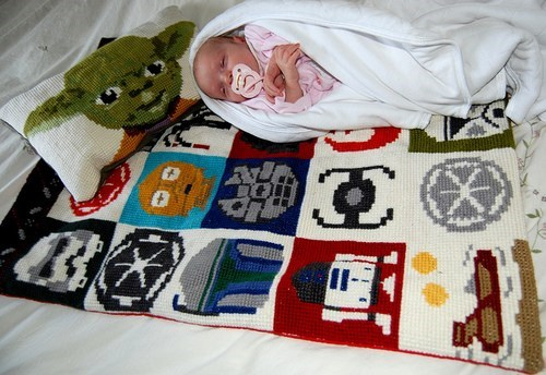 star wars,stitching,baby blanket