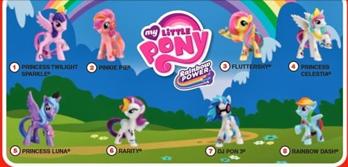 happy meal,toys,McDonald's,MLP