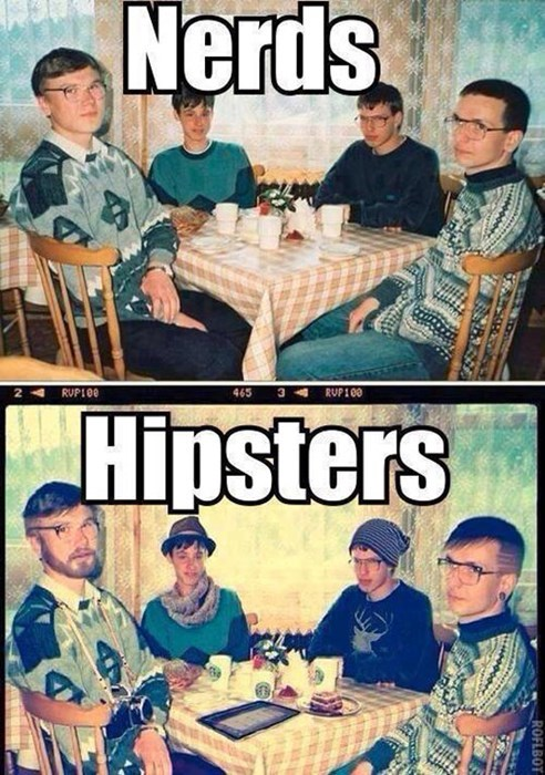 nerds hipsters