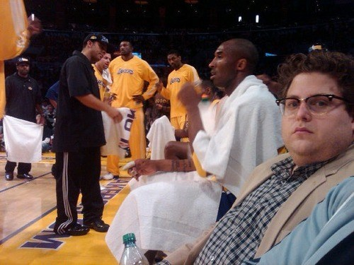 Lakers jonah hill kobe bryant basketball - 8101381888