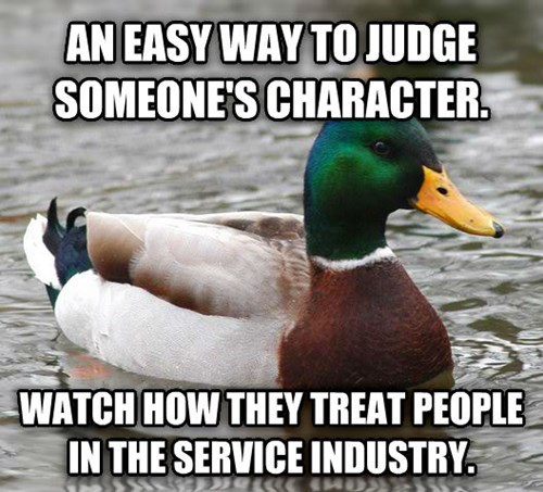 Actual Advice Mallard,waiters,dating