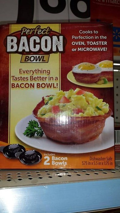bacon bowl bacon - 8102354688