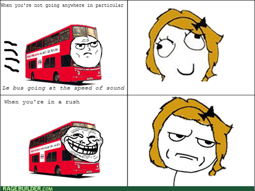 trollface are you kidding me buses - 8102355200