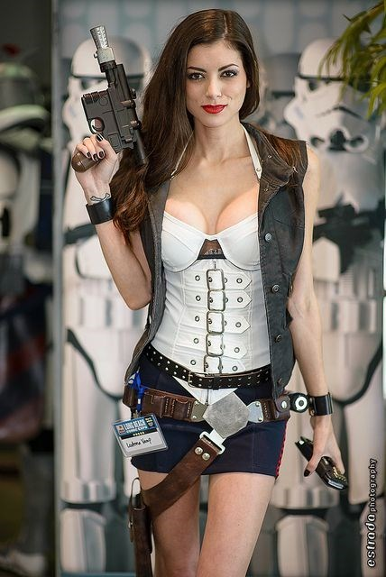 Sexy Ladies,cosplay,Han Solo