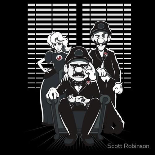 tshirts the godfather Super Mario bros - 8102376448