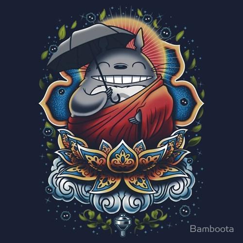 miyazaki,buddha,totoro,tshirts