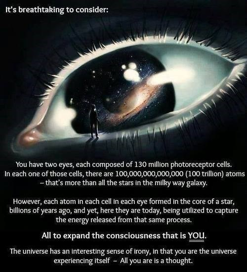 the universe eyes astonishing quote funny - 8102410752