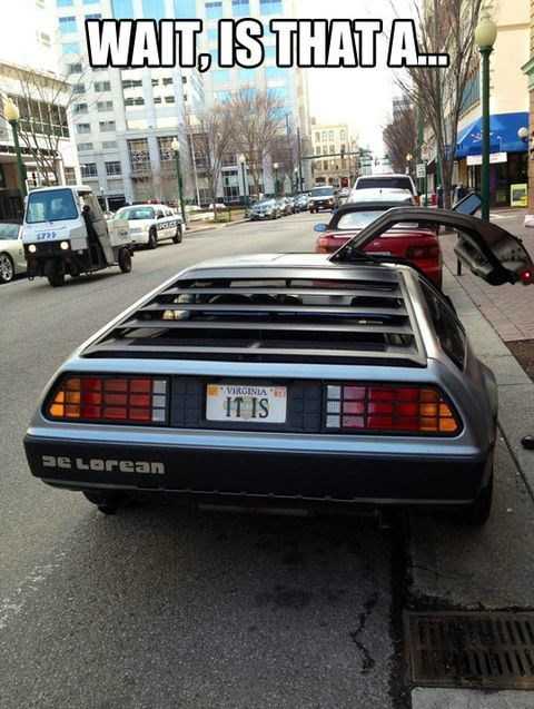 DeLorean vanity plates back to the future license plates