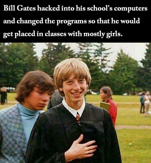 school microsoft Bill Gates - 8102491136