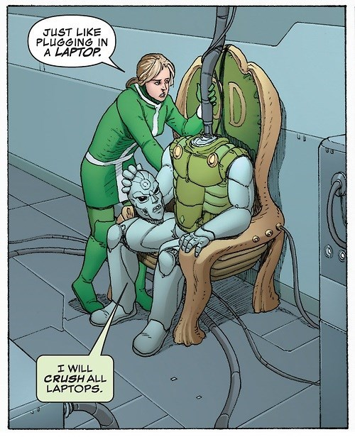 Straight off the Page,doctor doom,laptop