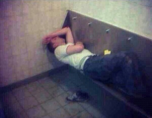drunk urinal passed out funny after 12 g rated
