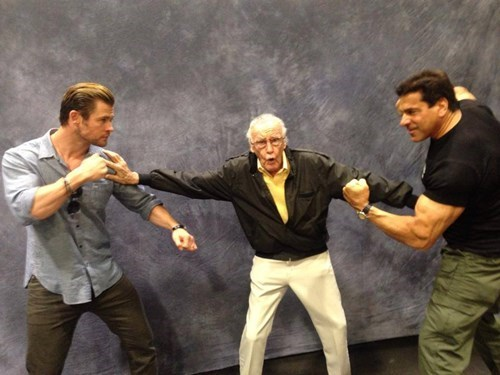 the hulk,Thor,lou ferrigno,celeb,superheroes,stan lee,chris hemsworth