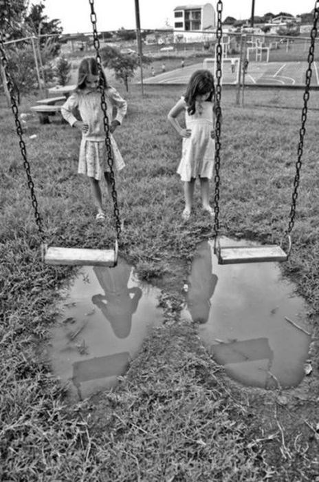 kids playground parenting puddle swing