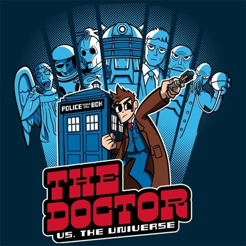 scott pilgrim tshirts 10th doctor villains - 8102601216