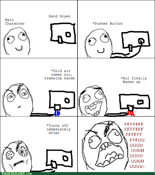 rage,hand dryer,bathroom