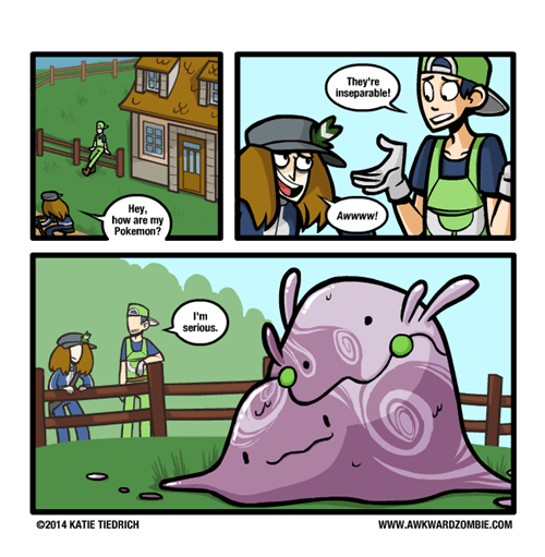 Pokémon goomy web comics awkward zombie - 8102635520