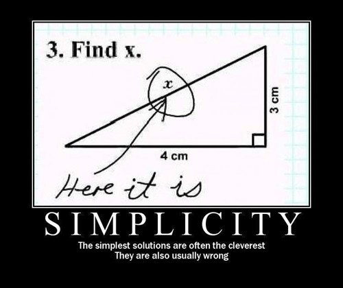 simplicity clever funny - 8102658048